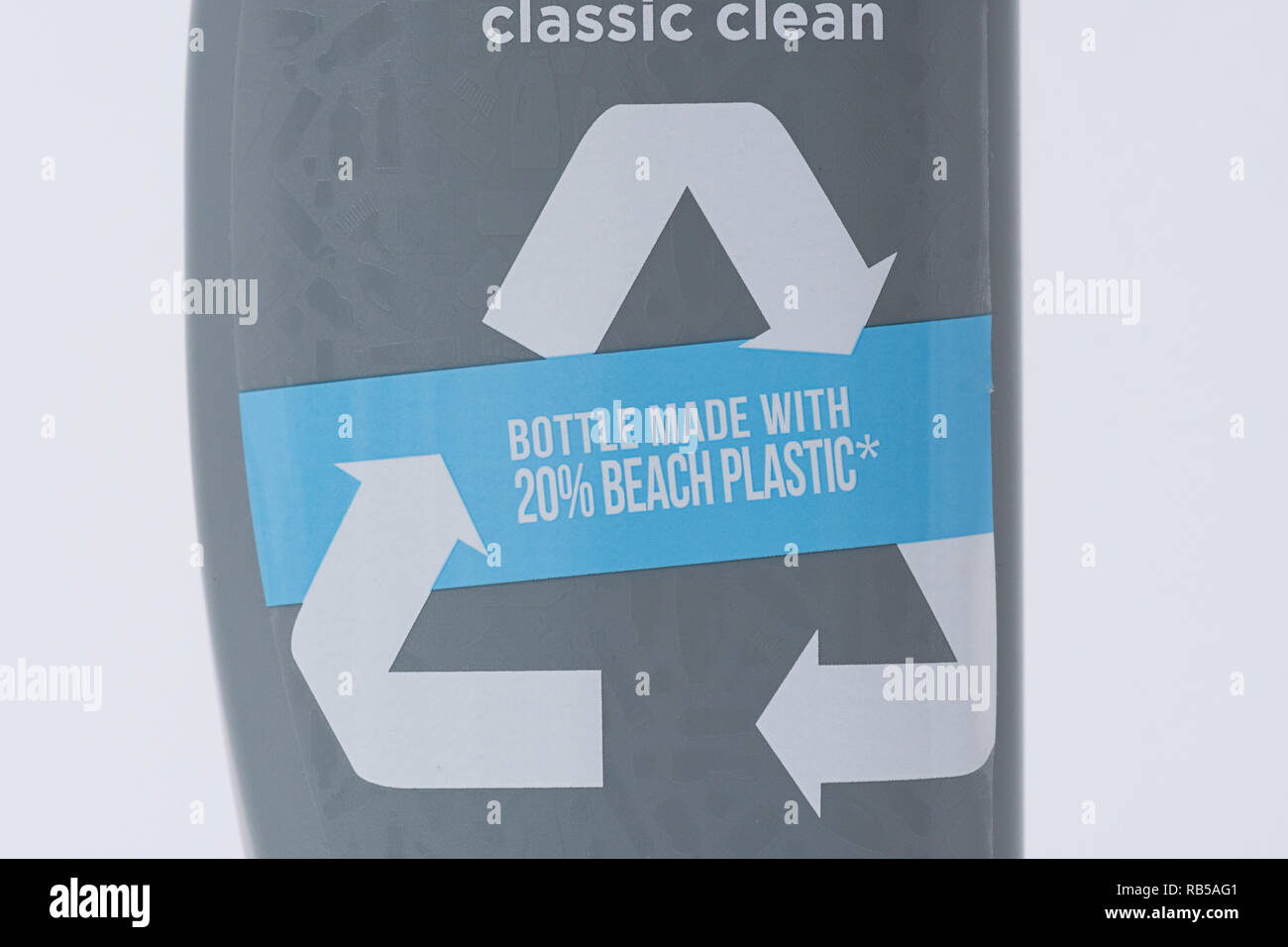 Head and Shoulders shampoo bottle made from 20% recycled beach plastic - Stock Image