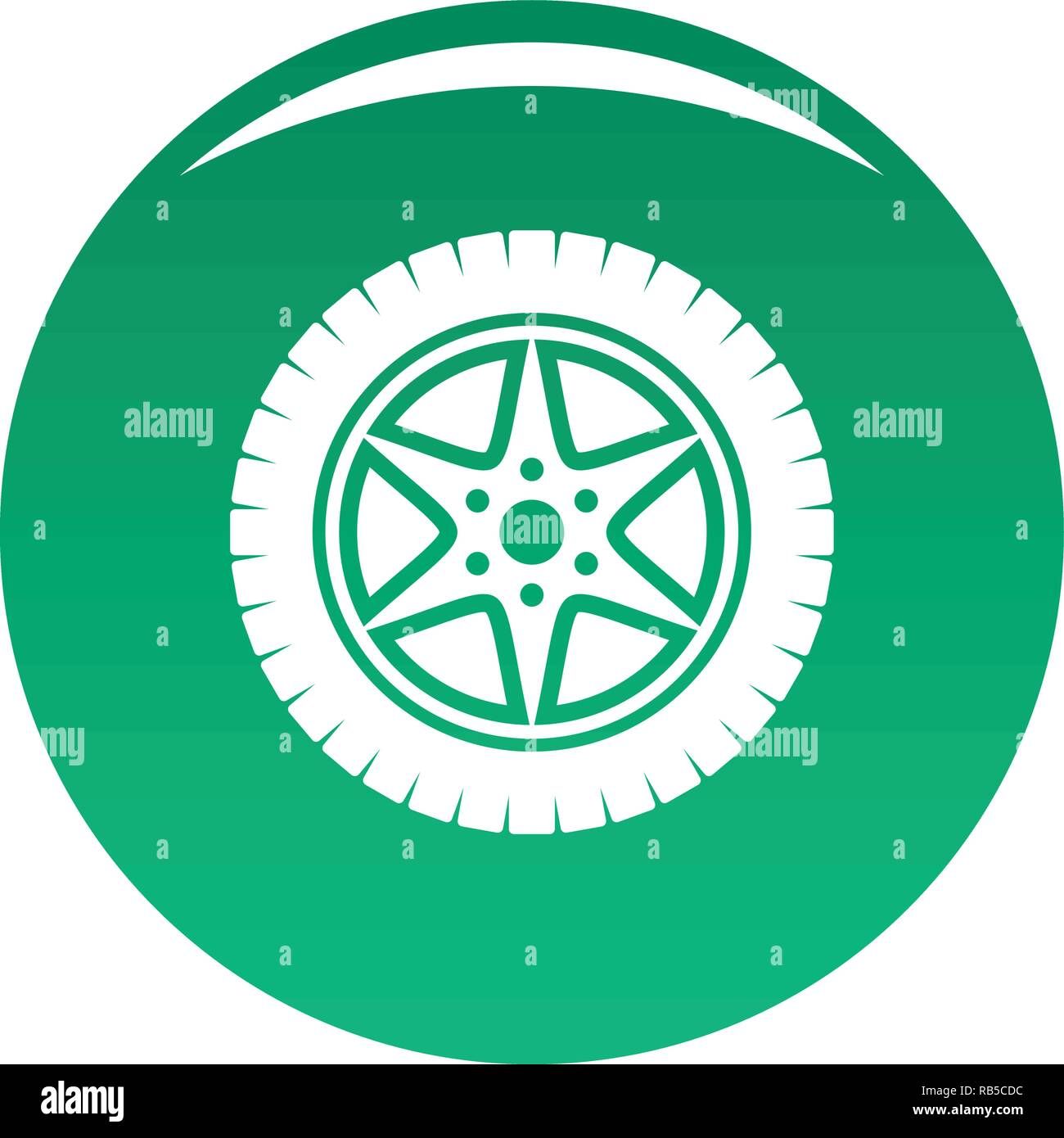 Car wheel icon  Simple illustration of car wheel vector icon