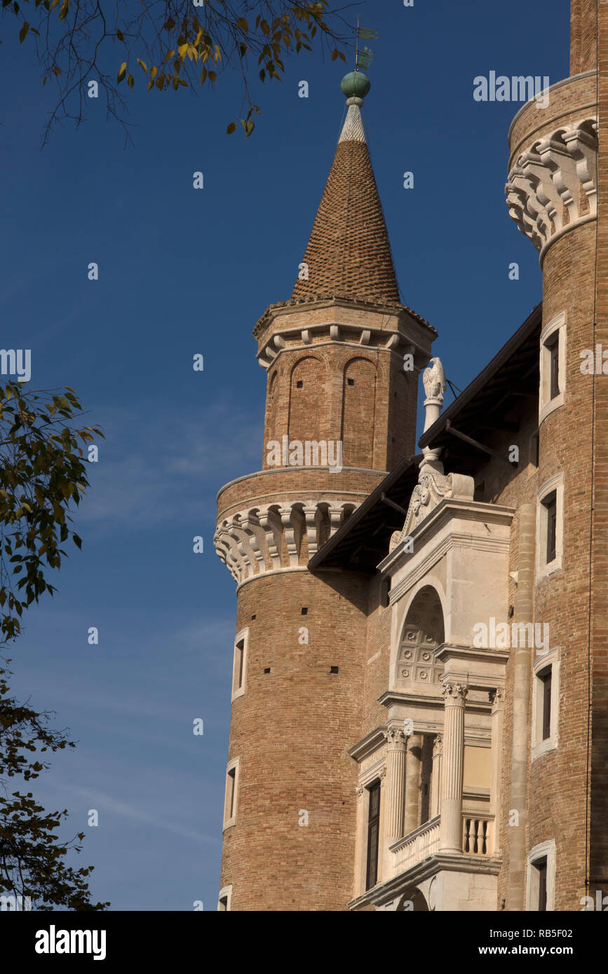 Urbino,Palazzo Ducale, the Ducal Palace, Urbino, Marche, Italy Stock Photo