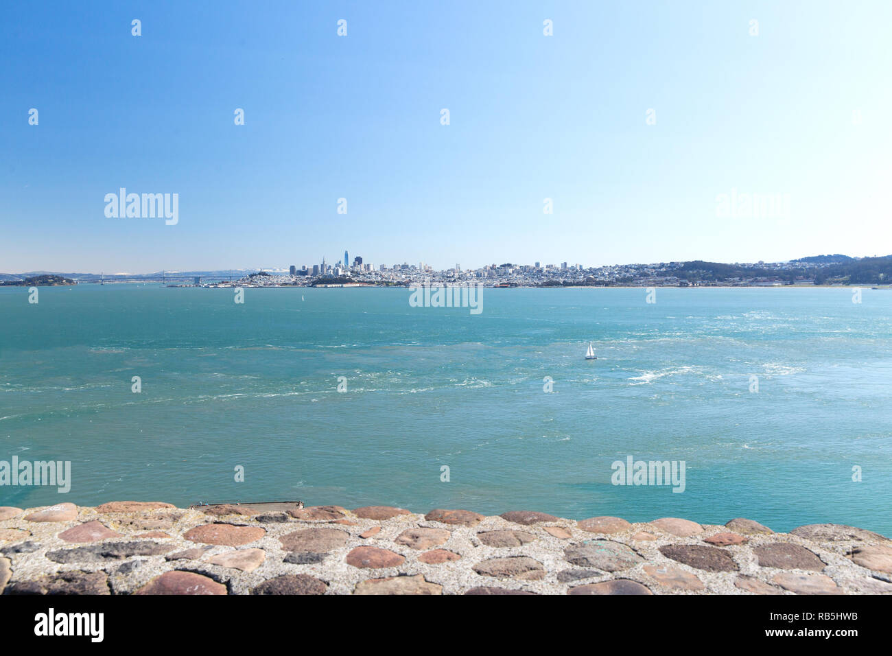 view of san francisco city and pacific ocean - Stock Image