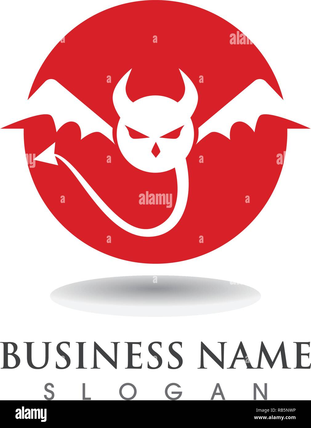 devil logo high resolution stock photography and images alamy https www alamy com devil logo vector icon template image230622946 html