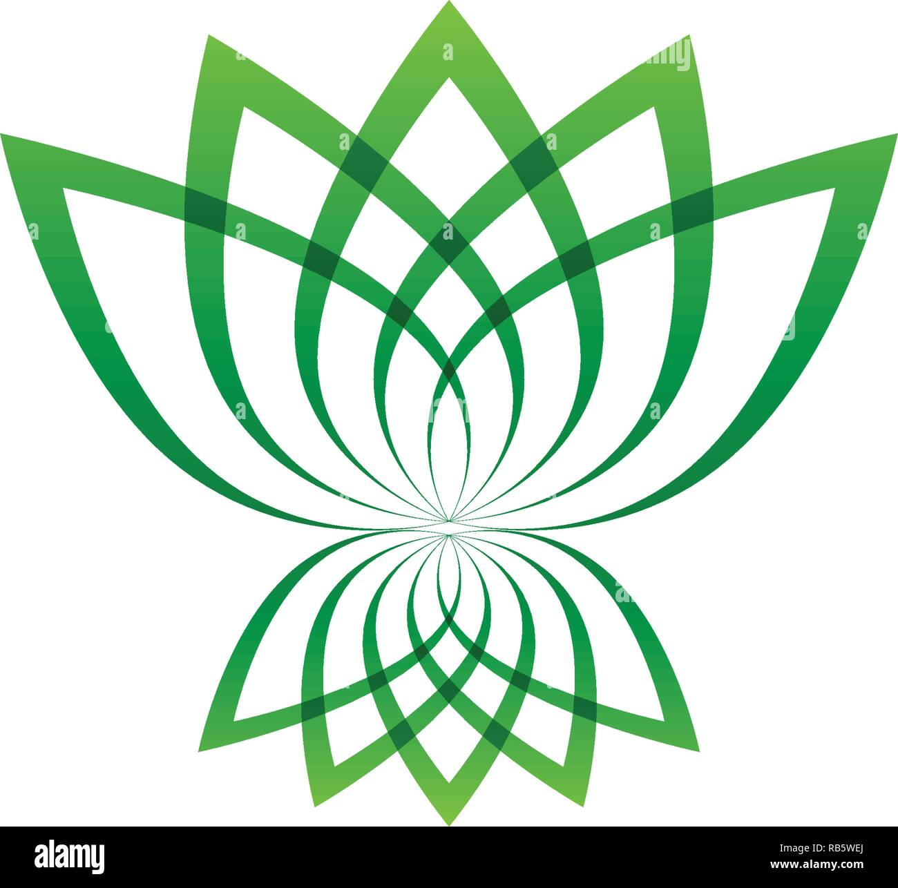 Lotus Flower Logo And Symbols Vector Template Icons Stock Vector Art