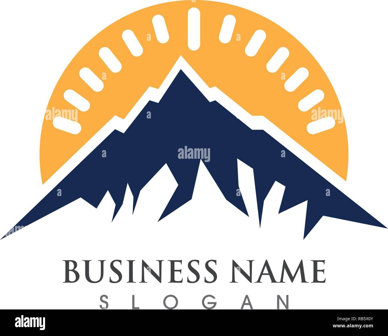 High Mountain icon  Logo Business Template Vector - Stock Vector