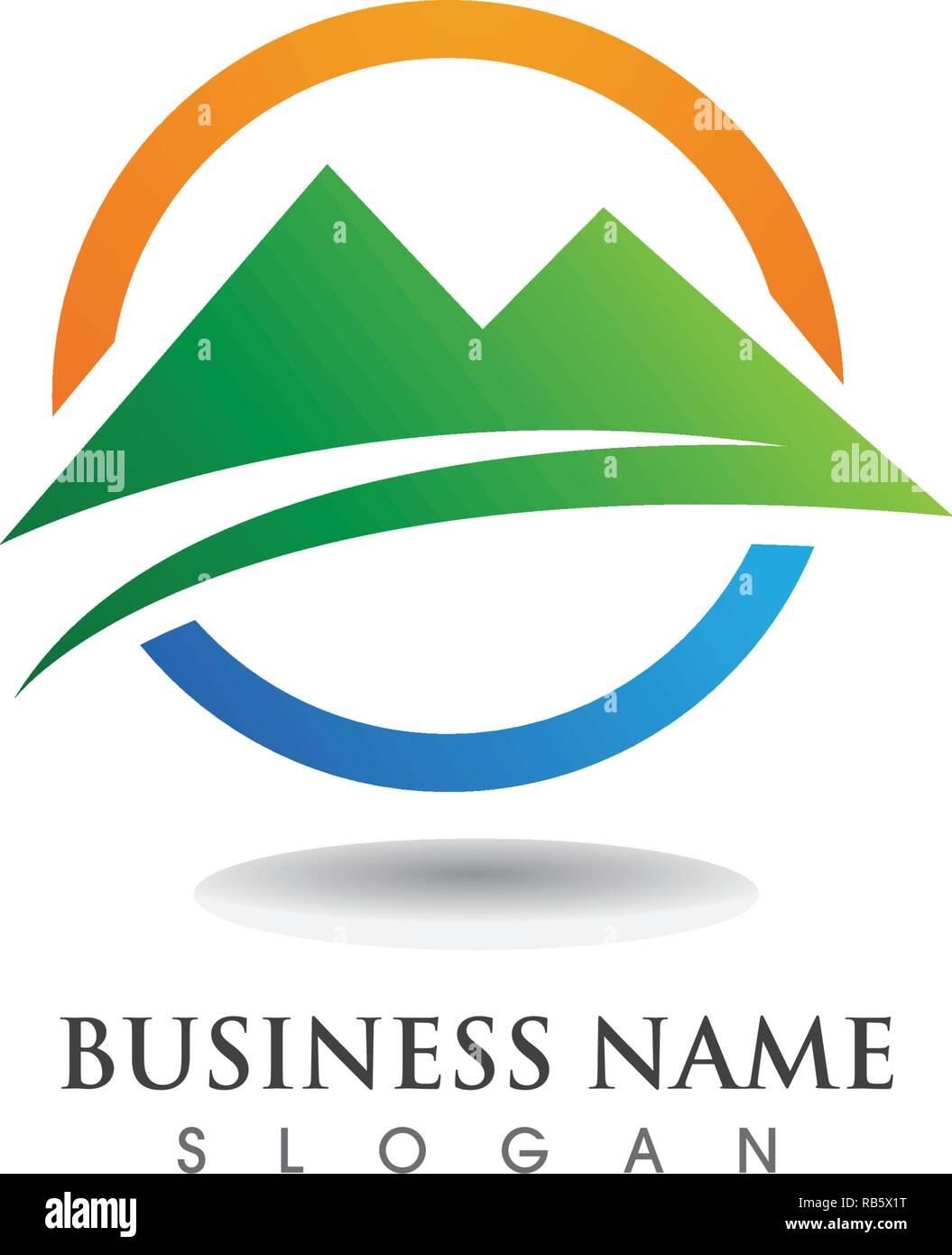 Mountain logo and symbols vector - Stock Vector