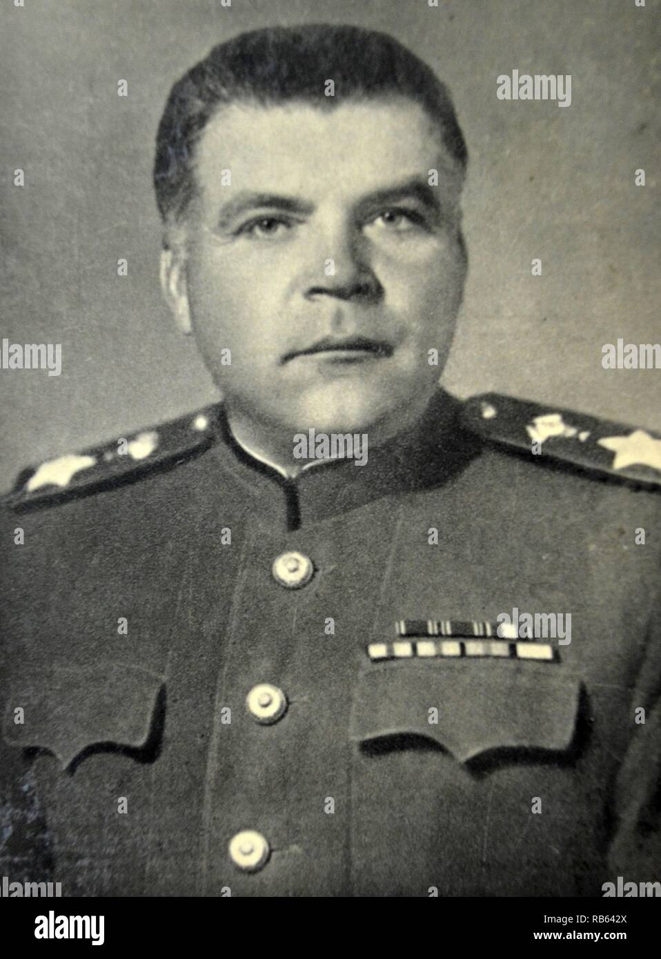 Rodion Yakovlevich Malinowski ( 1898 - 1967). Soviet military commander in World War II and Defense Minister of the Soviet Union in the late 1950s and 1960s. He contributed to the major defeat of Germany at the Battle of Stalingrad and the Battle of Budapest. During the post-war era, he made a pivotal contribution to the strengthening of the Soviet Union as a military superpower. - Stock Image