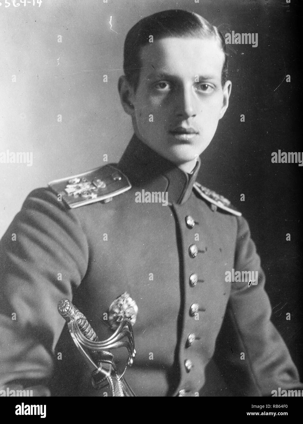 Prince Dimitri Alexandrovich of Russia (15 August 1901 - 7 July 1980) was a son of Grand Duke Alexander Mikhailovich of Russia and Grand Duchess Xenia Alexandrovna of Russia. He was a nephew of Tsar Nicholas II of Russia. Stock Photo
