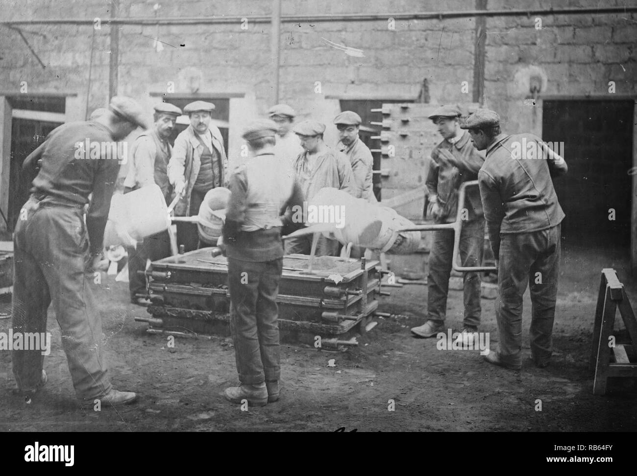 World war one French armaments foundry. - Stock Image