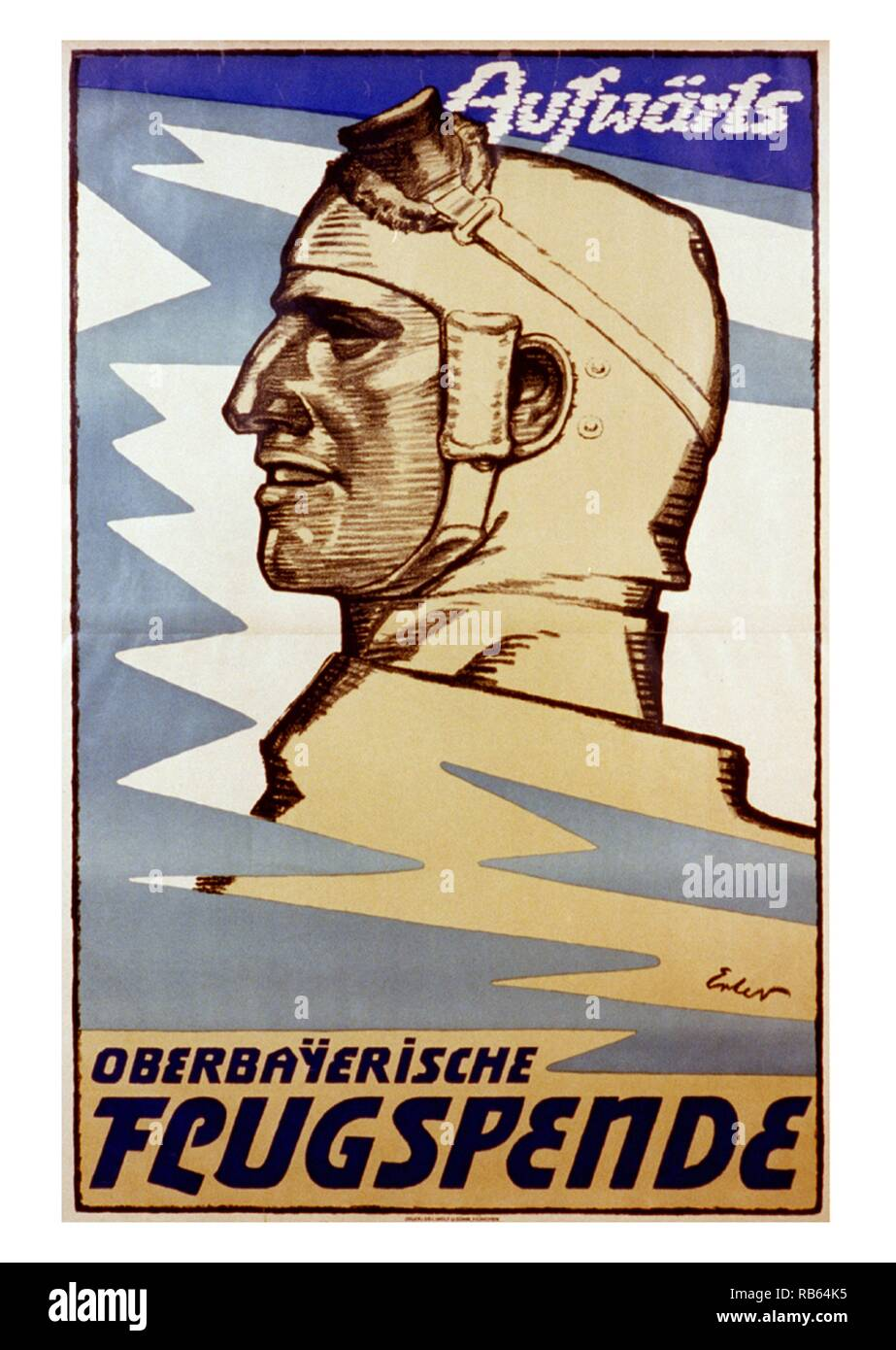 German war propaganda poster created by Fritz Erler (1868 - 1940). German painter, graphic designer and scenic designer. Creator of several propaganda posters during World War I. Dated 1916 - Stock Image