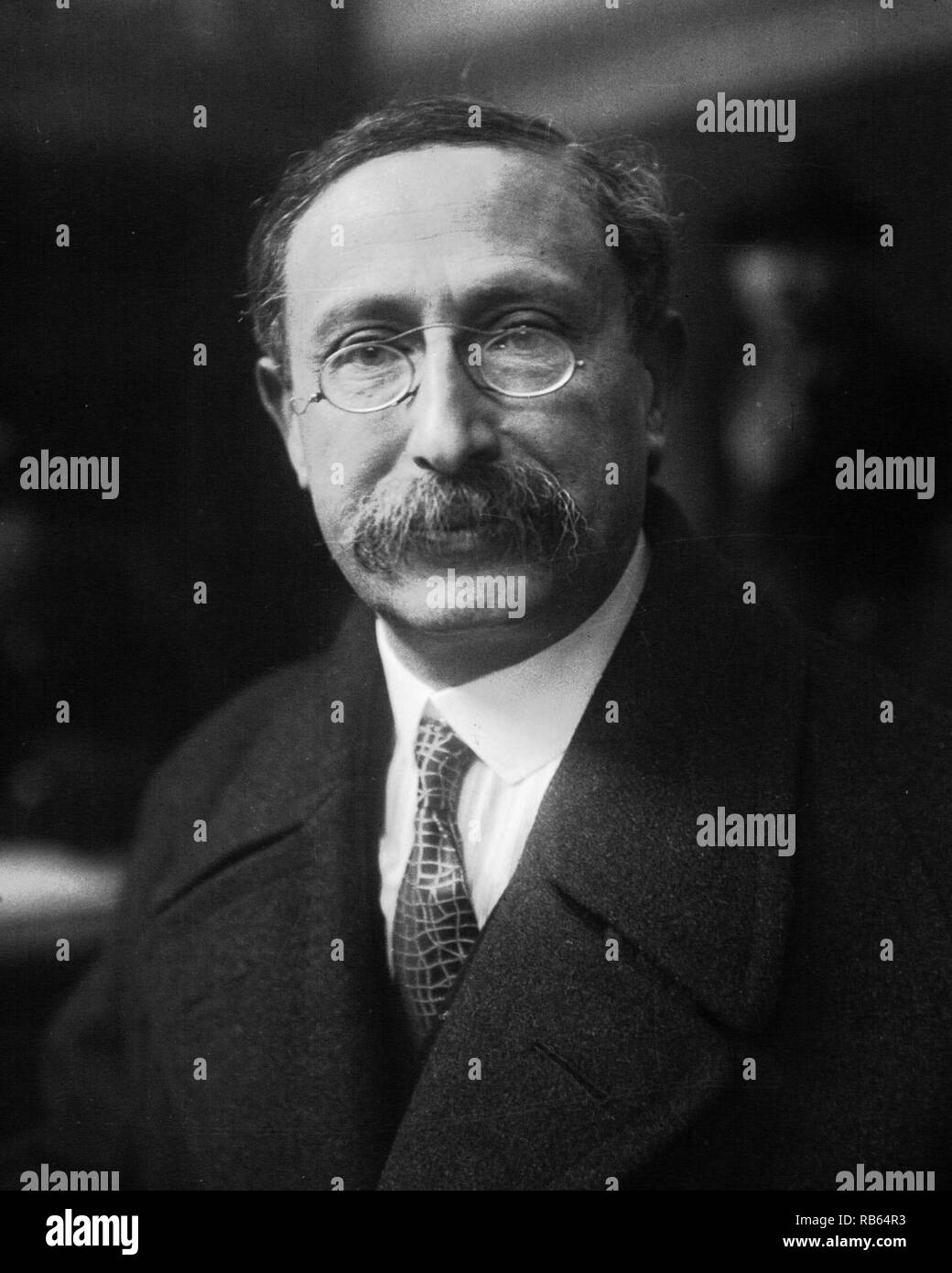 Salomon Arvid Achates Lindman (19 September 1862 - 9 December 1936) served as Prime Minister of Sweden, from 1906 to 1911 and from 1928 to 1930 - Stock Image