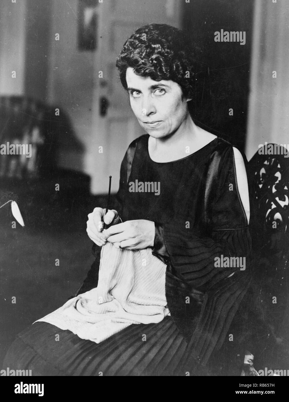 Grace Coolidge the wife of President Calvin Coolidge. Calvin Coolidge was the 30th President of the United States. A Republican lawyer from Vermont, Coolidge worked his way up the ladder of Massachusetts state politics, eventually becoming governor of that state. Stock Photo