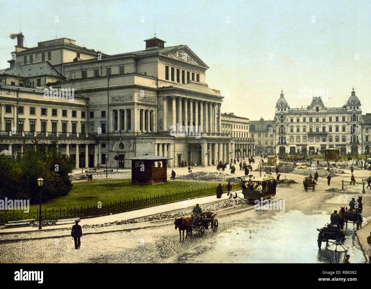 Grand theatre; Warsaw; Russia (i.e. Warsaw; Poland) - Stock Image
