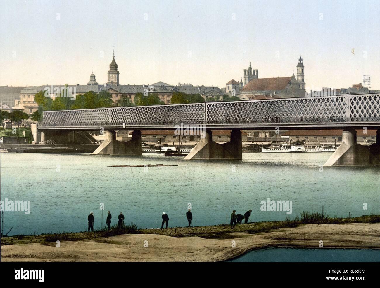 The Iron bridge; Warsaw; Russia (i.e. Warsaw; Poland) - Stock Image