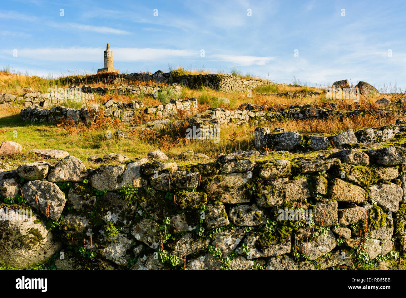 Paços de Ferreira, Portugal - October 19, 2014 : Citânia de Sanfins, located on a plateau, in a summit position that gave it a great security against  - Stock Image