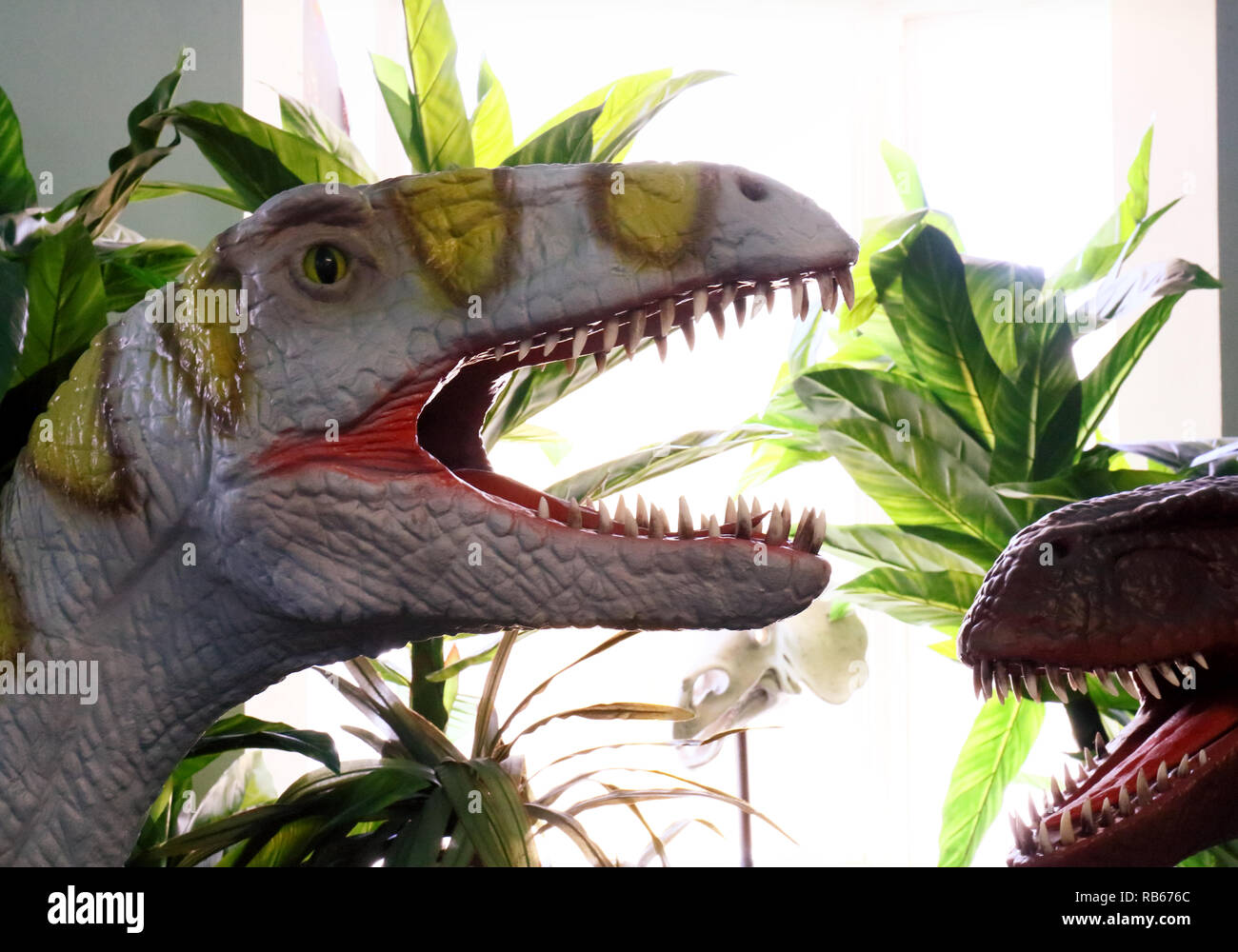 A visit to Cabazon, California, to see Claude Bell's dinosaurs in a roadside attraction turned Creationist channel. - Stock Image