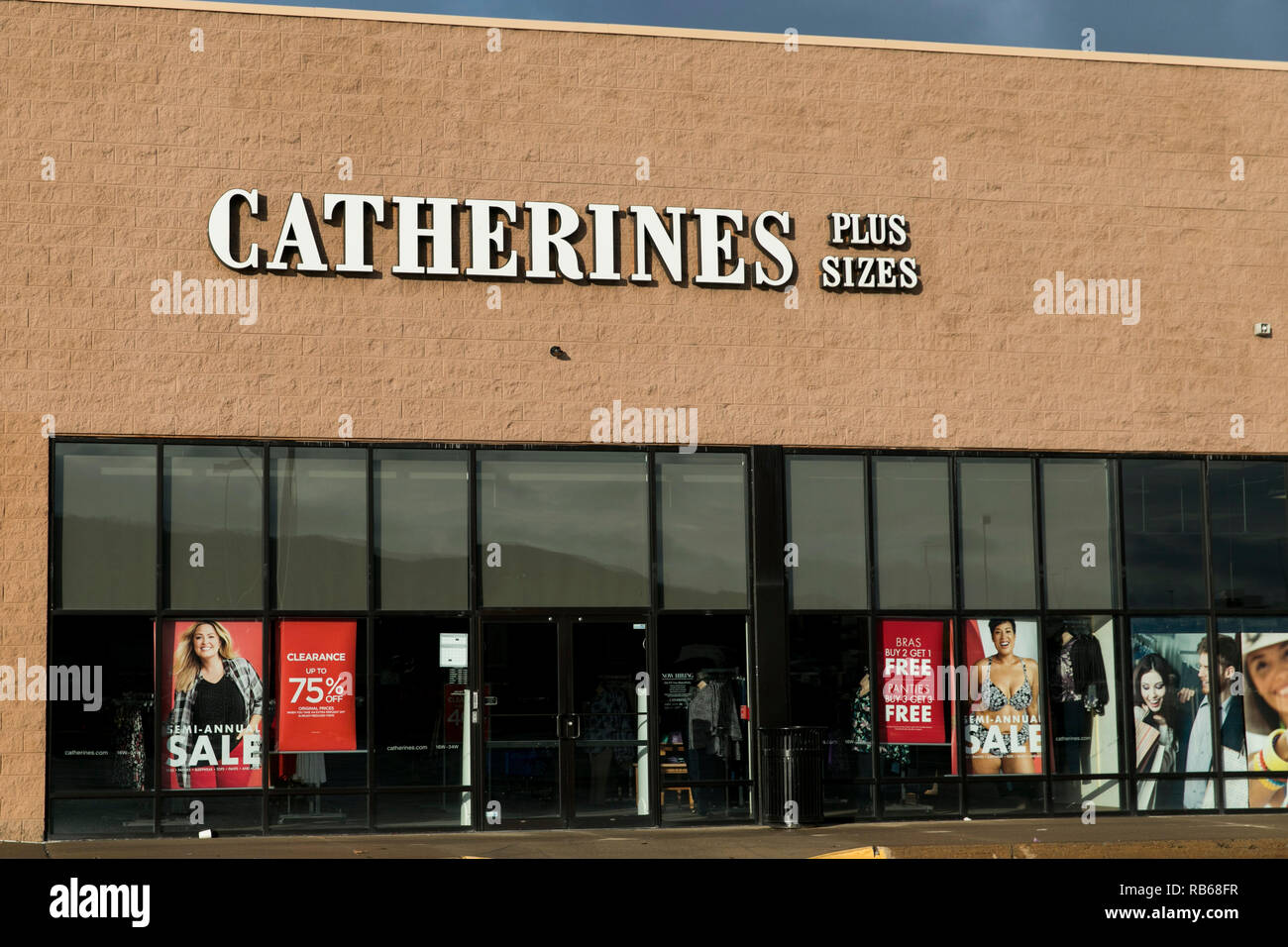 A logo sign outside of a Catherine's Plus Sizes retail store in Wilkes-Barre, Pennsylvania, on December 30, 2018. - Stock Image