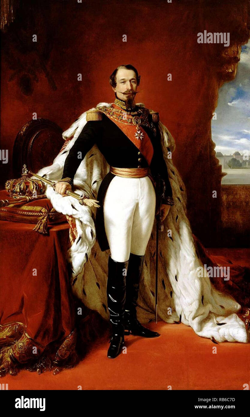 Napoleon III (1808 – 1873) was the first elected President of France from 1848 to 1852 - Stock Image