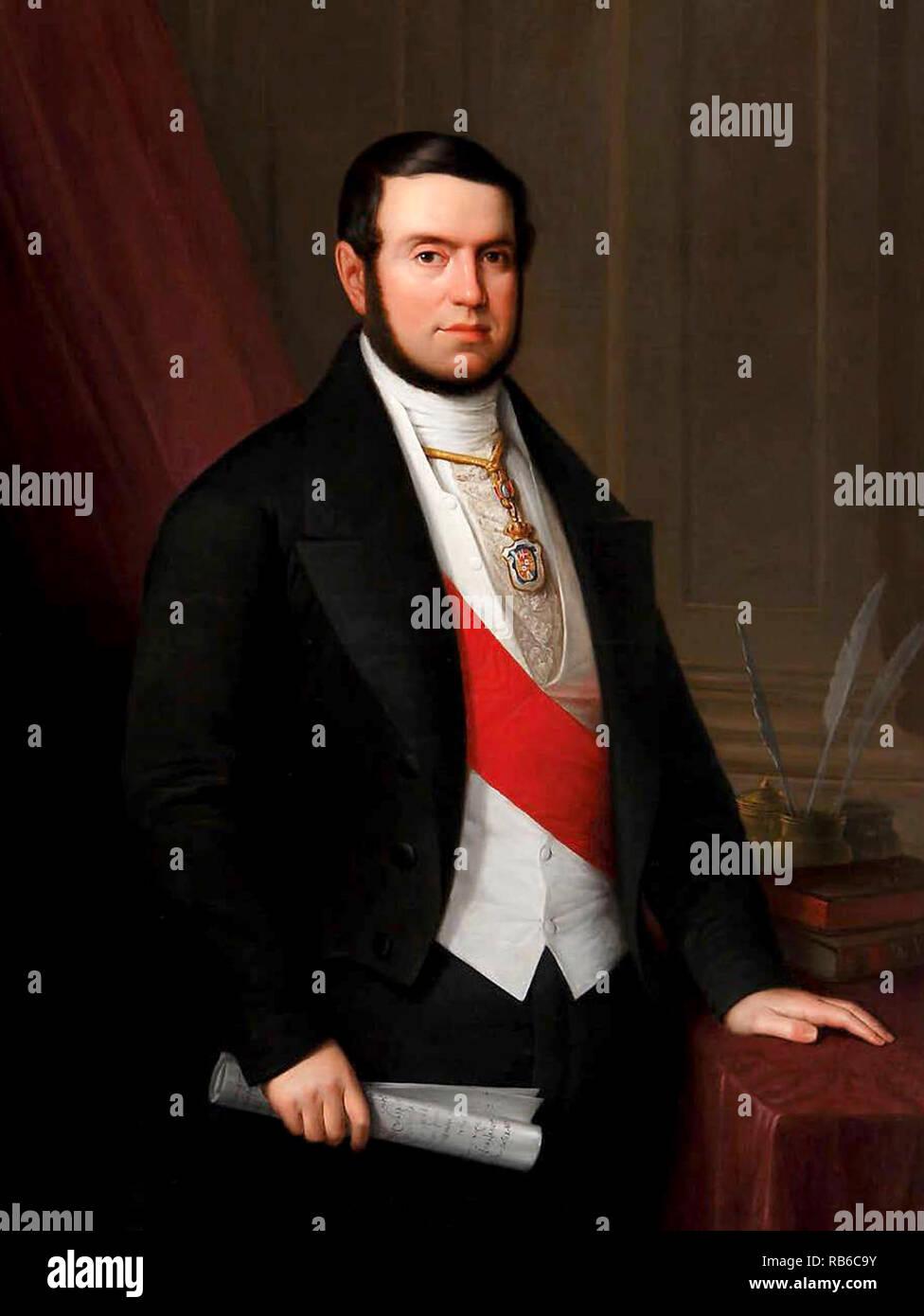 Joaquín Francisco Pacheco y Gutiérrez-Calderón (1808 – 1865) Spanish politician and Prime Minister of Spain in 1847 - Stock Image