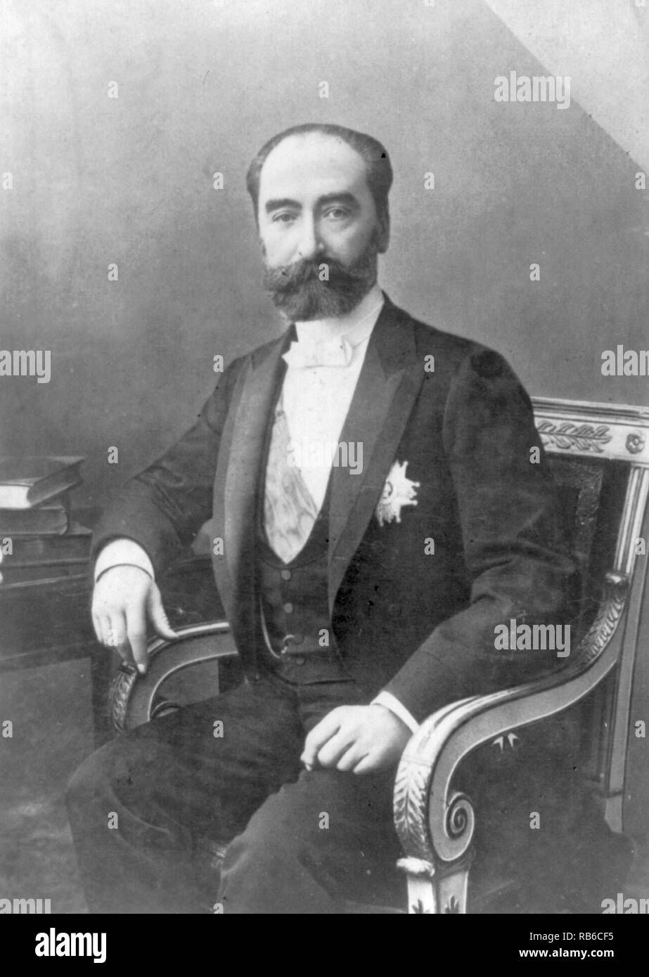 Marie François Sadi Carnot (1837 – 1894) French statesman and President of France from 1887 until his assassination in 1894 - Stock Image