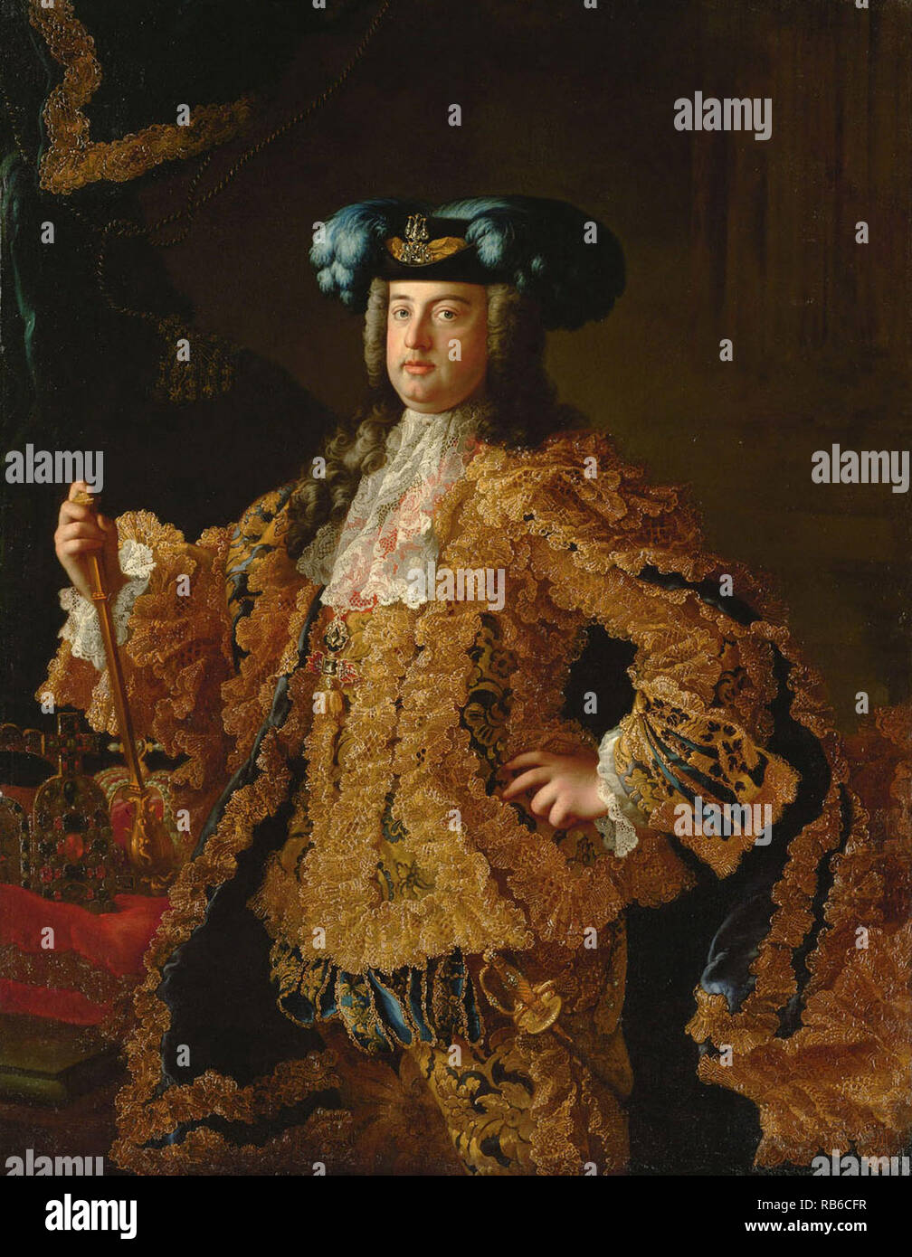 Francis I (1708 – 1765) Holy Roman Emperor and Grand Duke of Tuscany - Stock Image