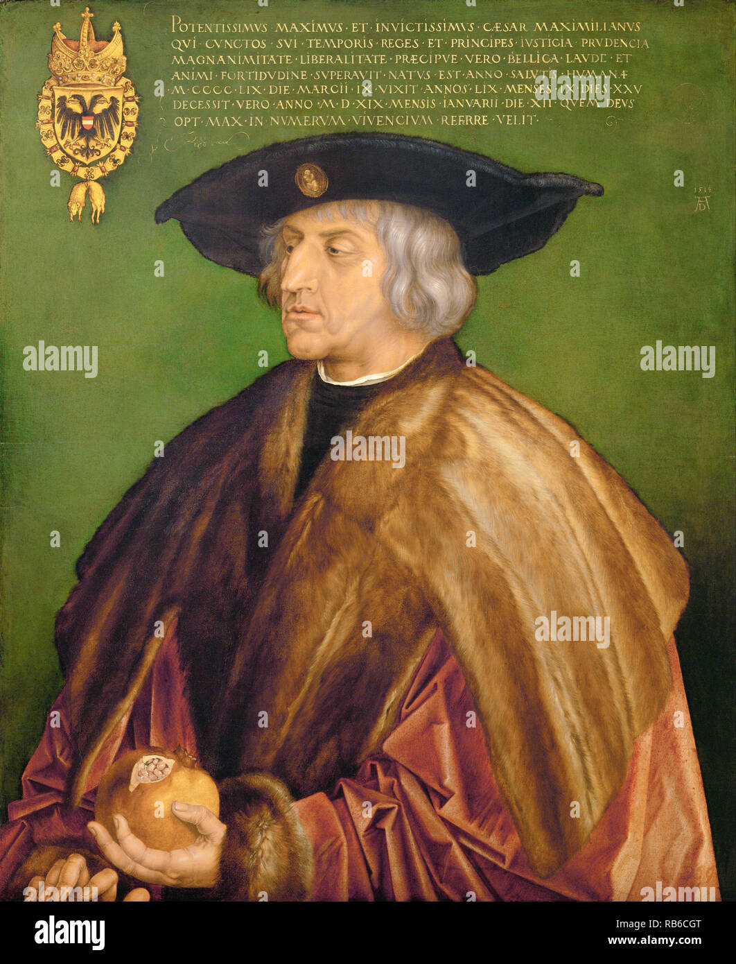 Maximilian I (1459 – 1519) Holy Roman Emperor from 1508 until his death - Stock Image