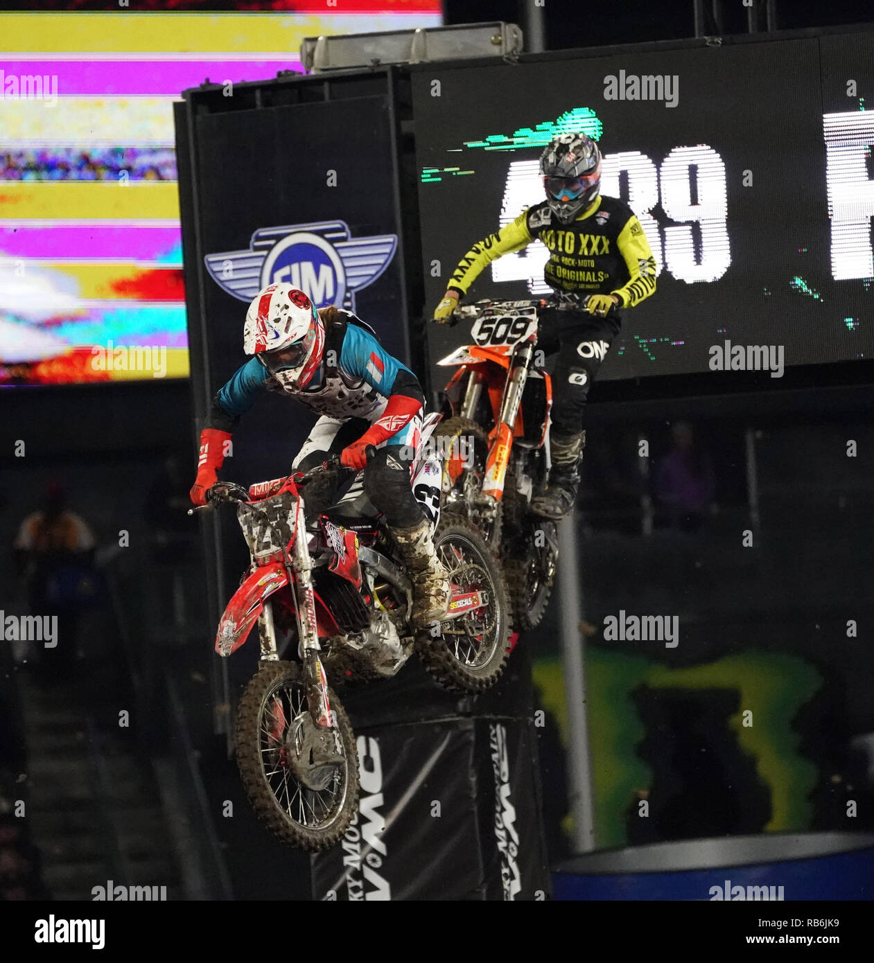 Anaheim, California, USA  1st Jan, 2017  AMA Supercross