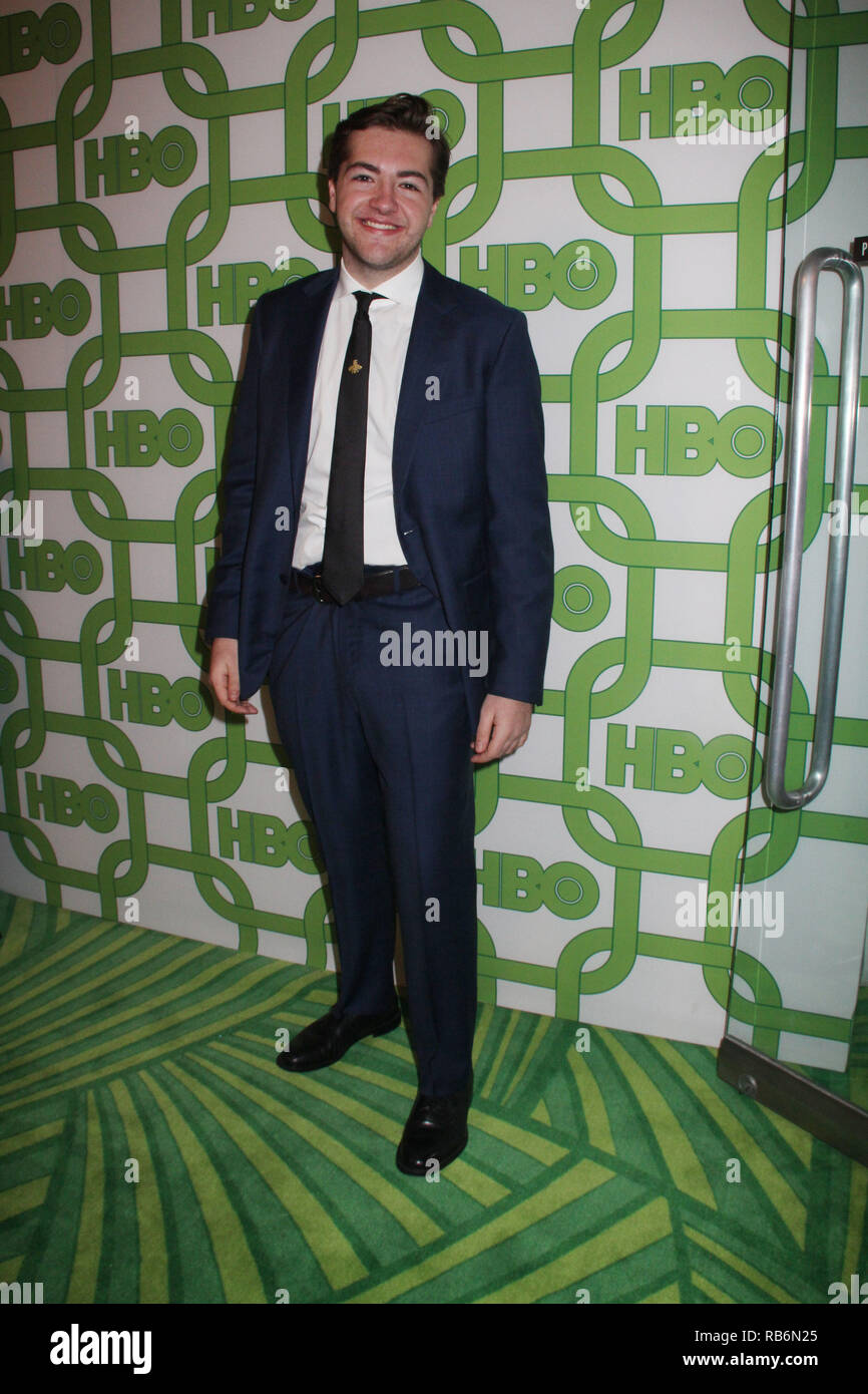 Michael Gandolfini  01/06/2019 The 76th Annual Golden Globe Awards HBO After Party held at the Circa 55 Restaurant at The Beverly Hilton in Beverly Hills, CA  Photo: Cronos/Hollywood News Stock Photo