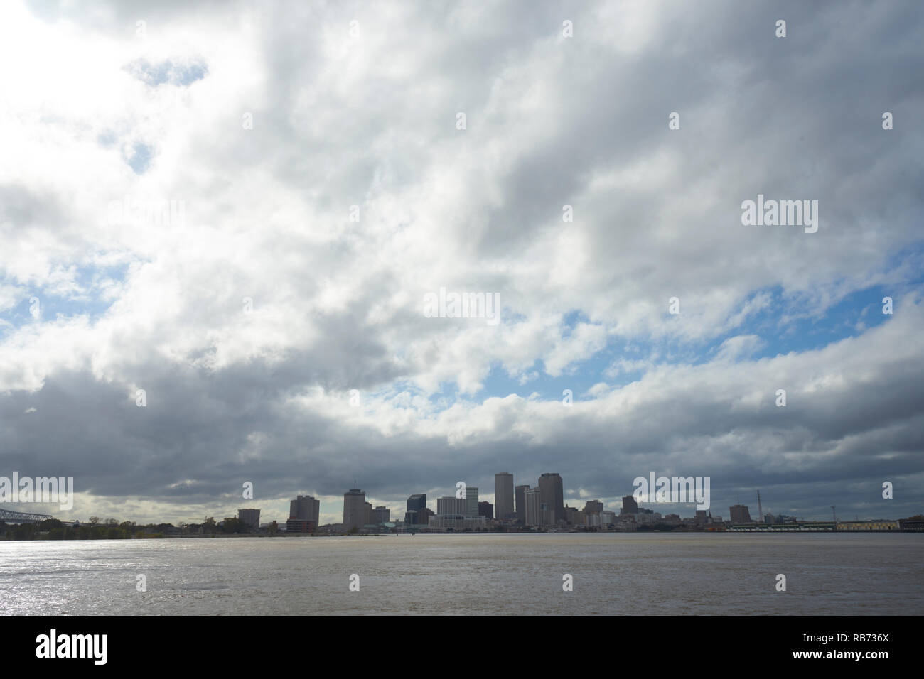 View of New Orleans downtown skyline. - Stock Image