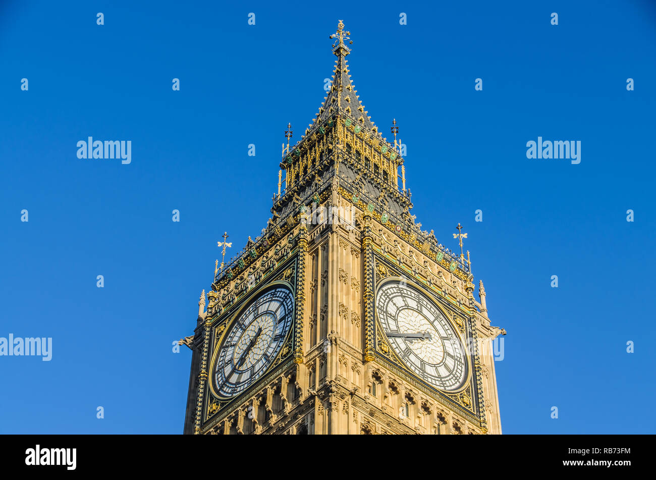 The famous Big Ben tower in London,England - Stock Image