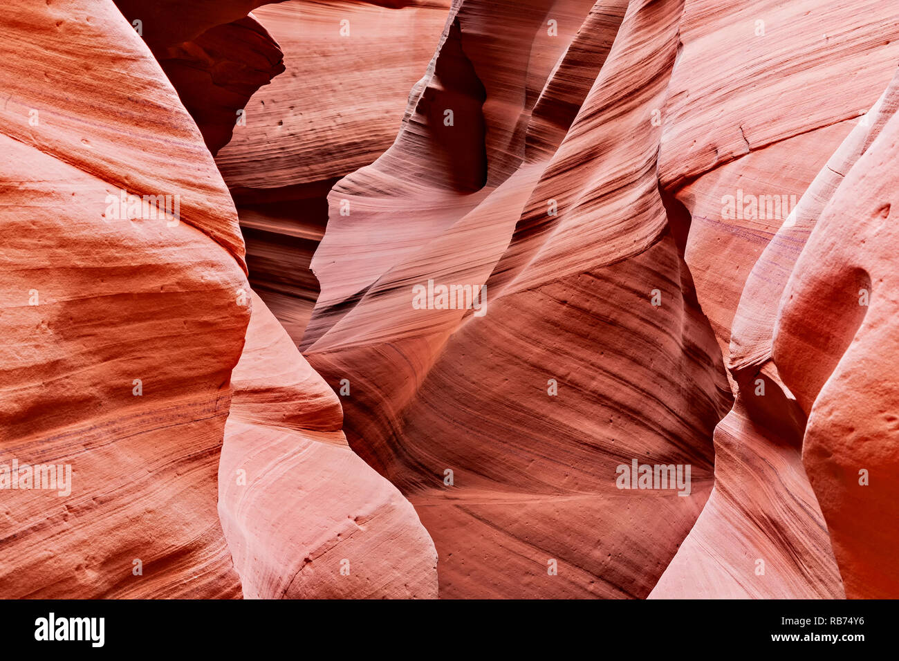 Rock Edges in slot canyon - Stock Image