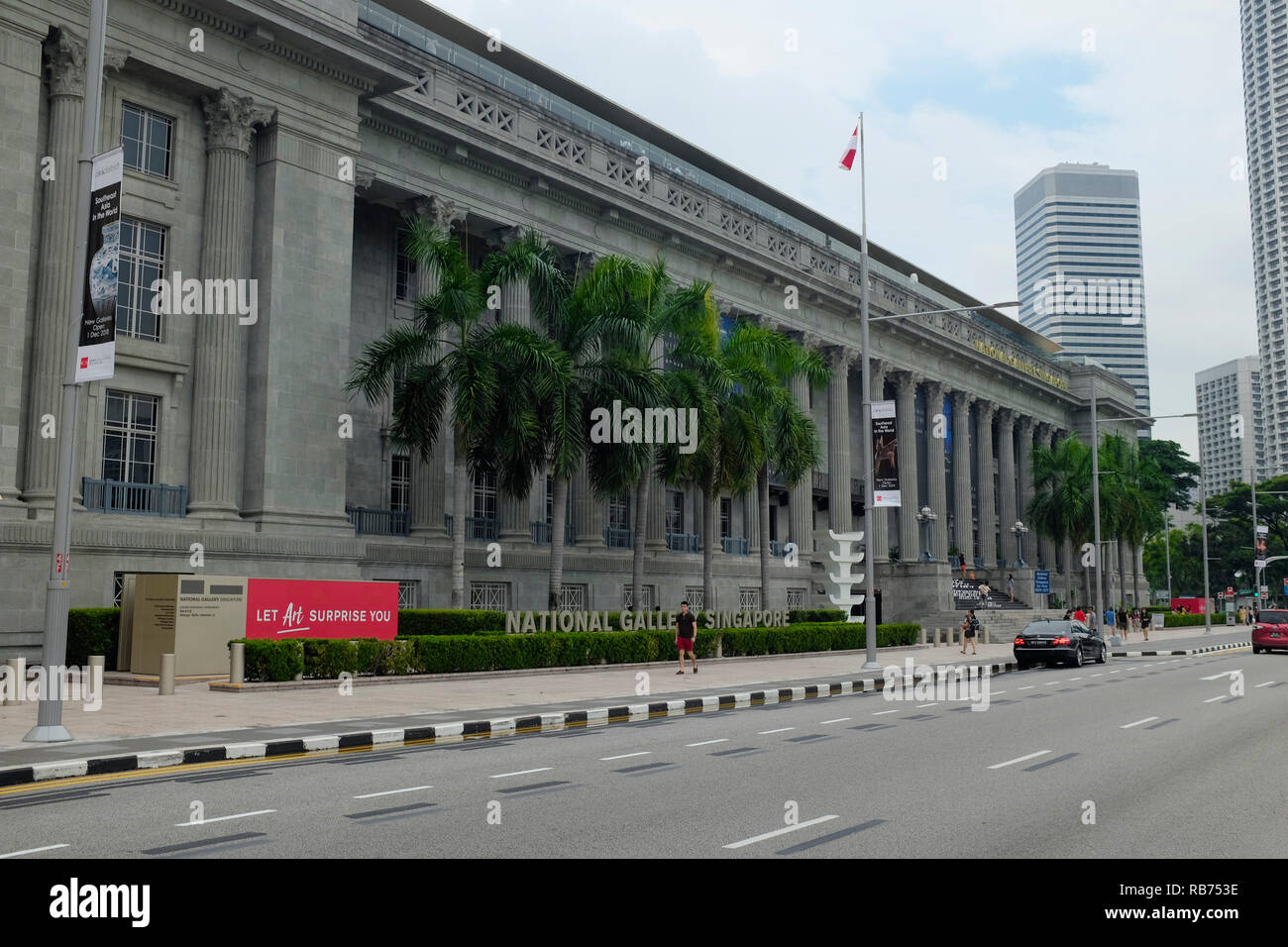 The National Gallery Singapore, Southeast Asia. - Stock Image