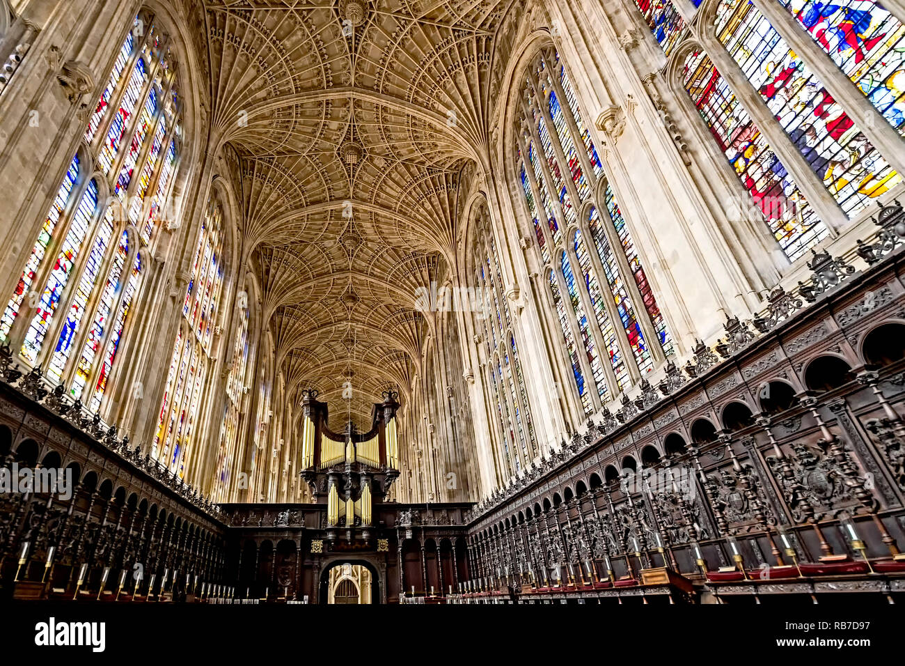 King's College (Cambridge, England) Stock Photo