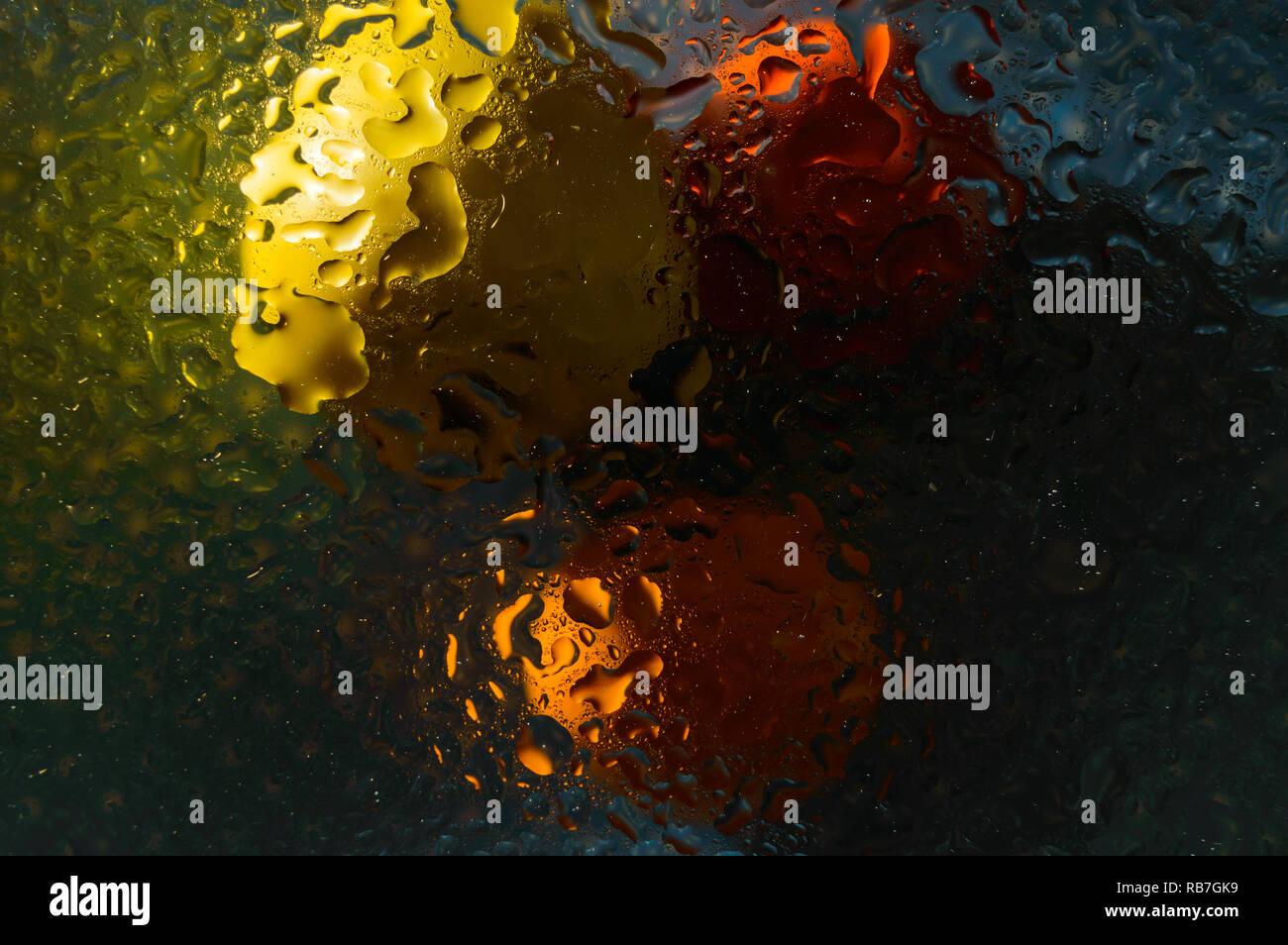 amazing water drops - Stock Image