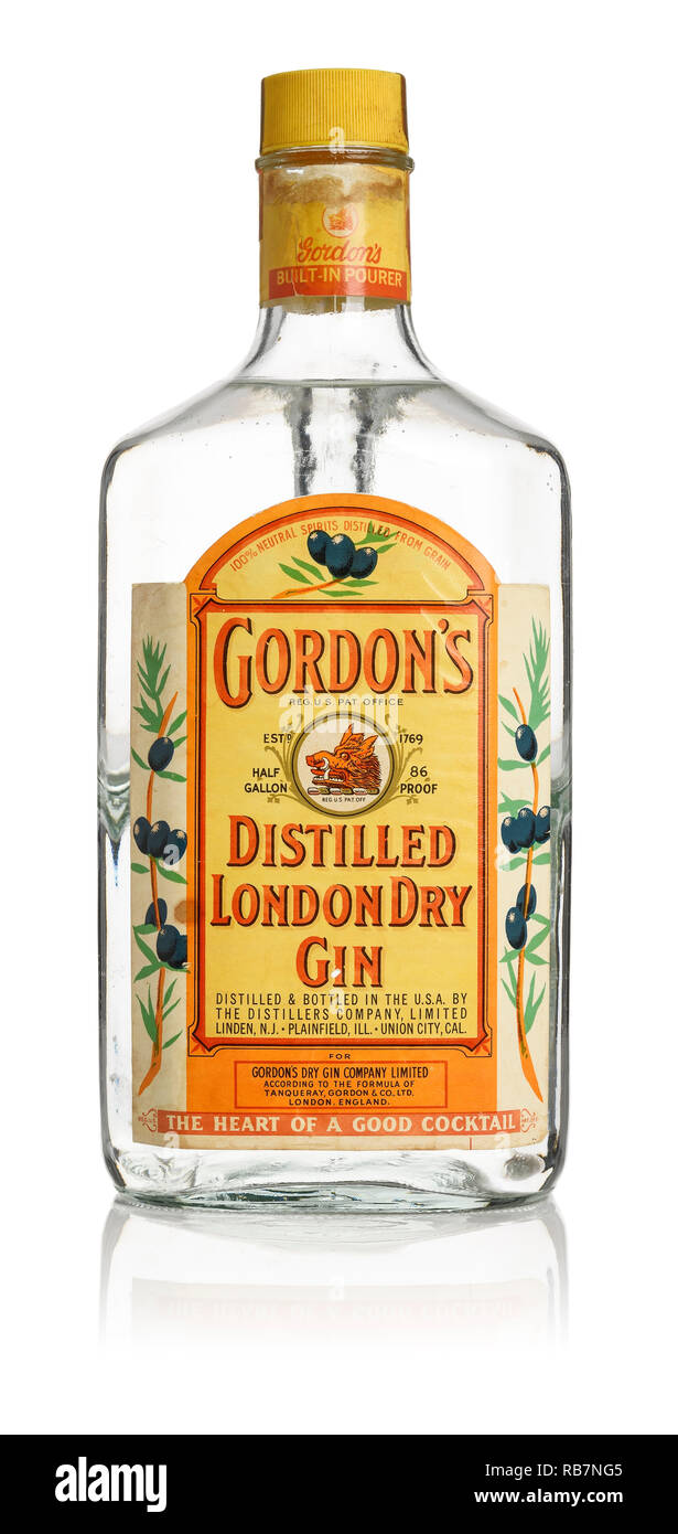 Gordons Gin High Resolution Stock Photography And Images Alamy