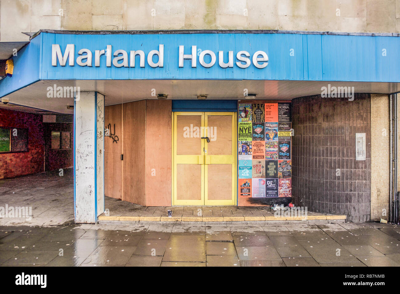 Marland House Cardiff due for demolition January 2016 to make way for the new transport hub - Stock Image