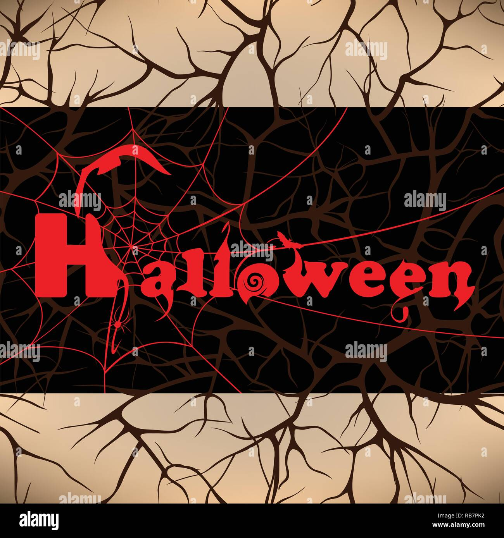 Halloween design background, vector illustration - Stock Vector