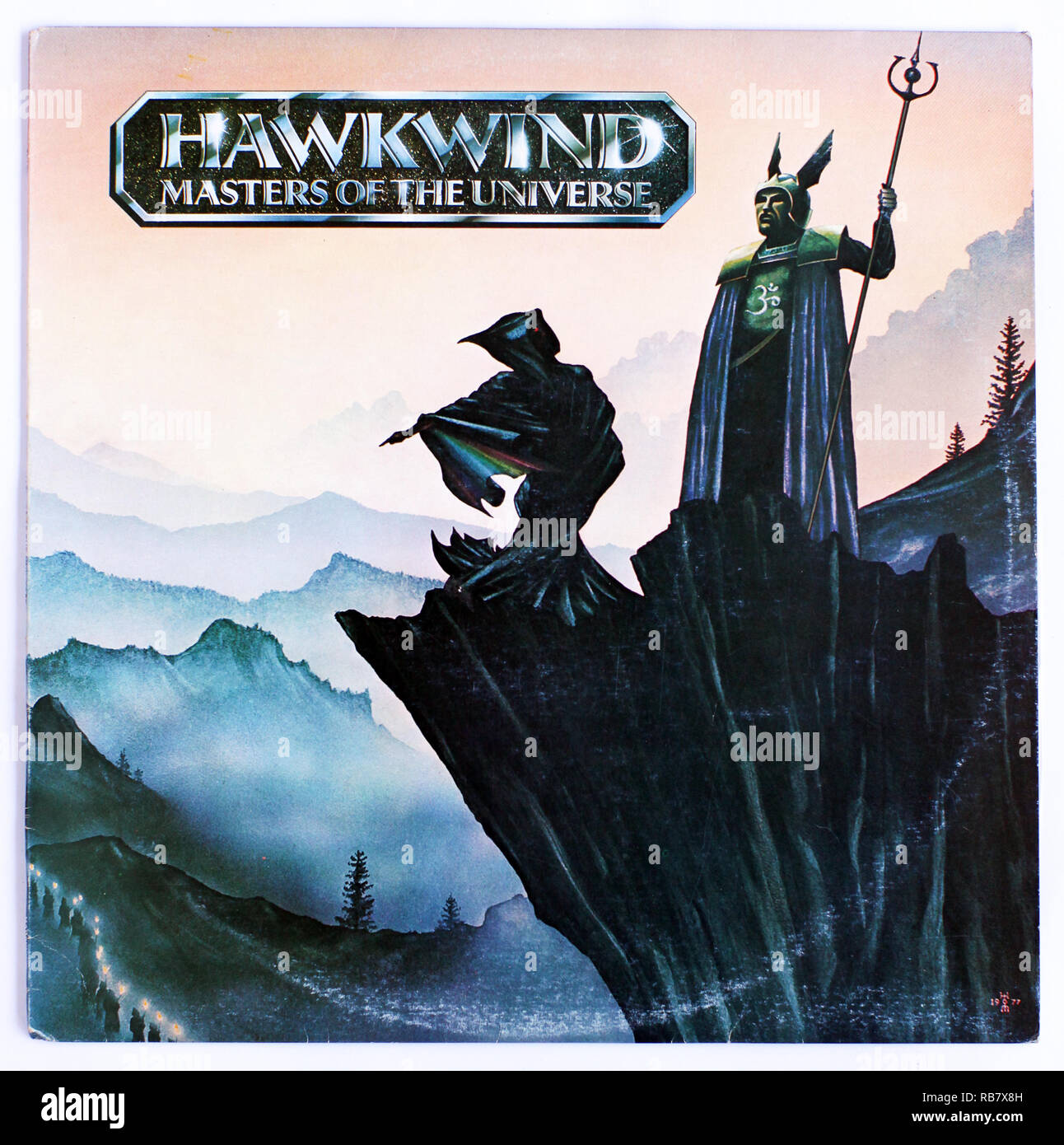 The cover of Masters Of The Universe by Hawkwind, 1973 album on United Artists - Stock Image