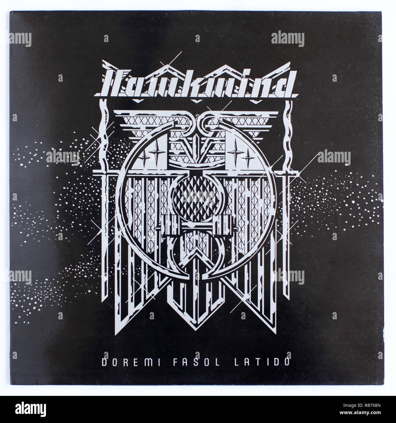 The cover of Doremi Fasol Latido by Hawkwind on United Artists - Stock Image