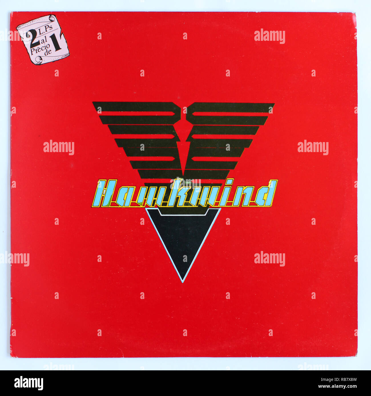 The cover of Hawkwind, Spanish special double LP - Stock Image