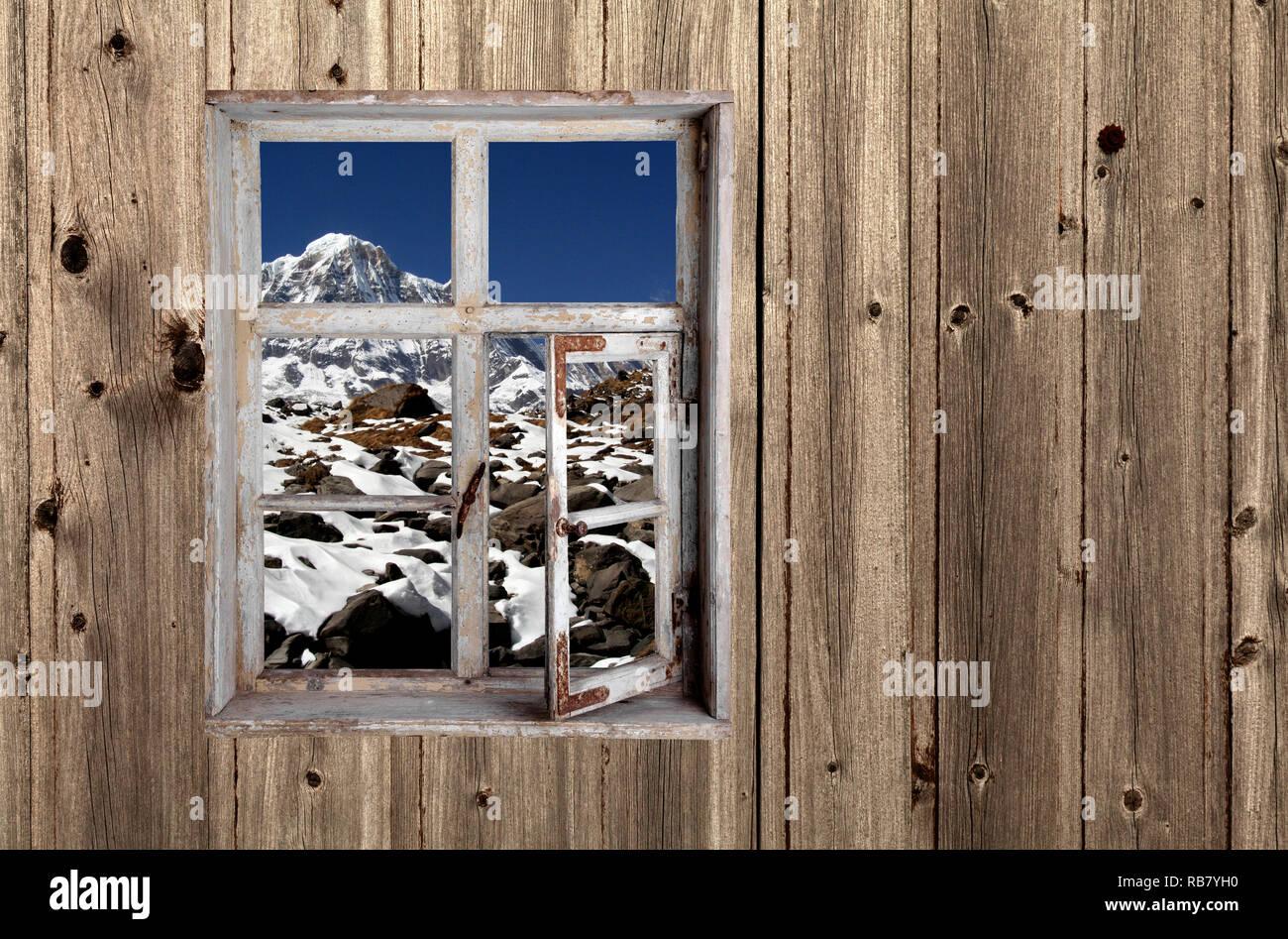 Blick aus dem Fenster - Stock Image