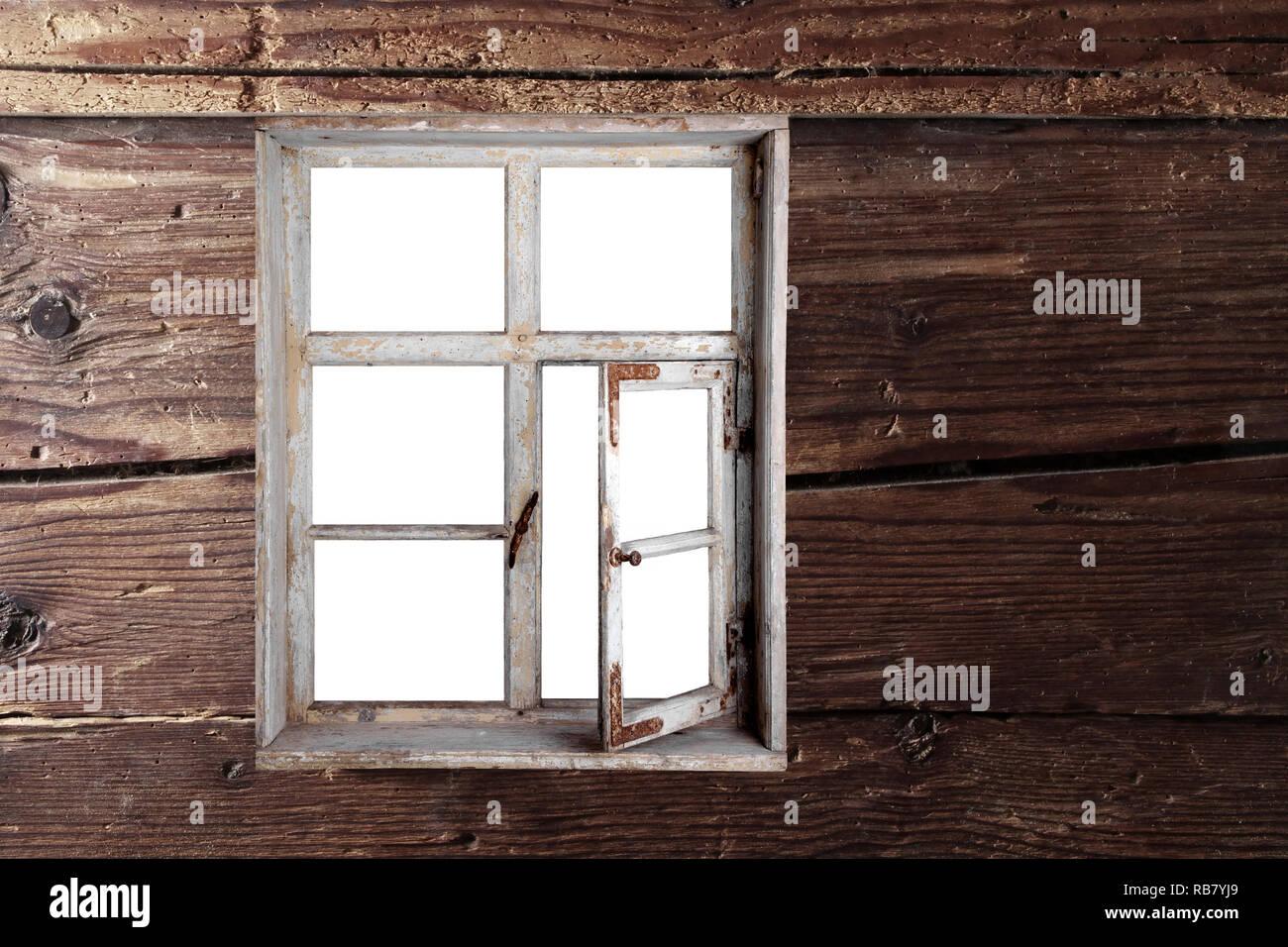 Blick aus dem Fenster Stock Photo