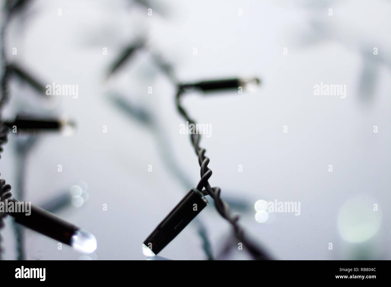 Christmas lights blurred background Stock Photo