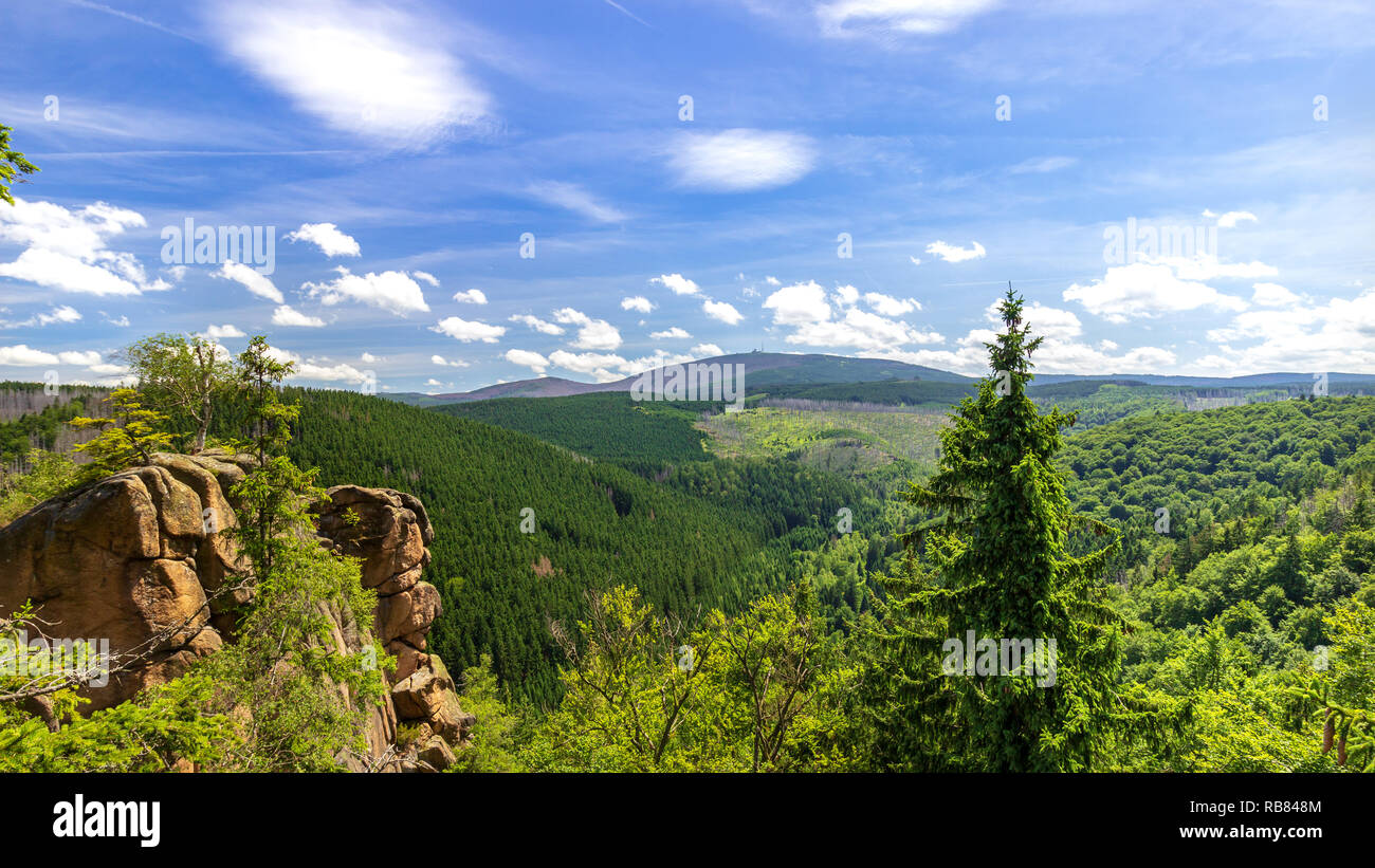 Scenic View Of Landscape Against Sky and Mountain 'Broken' - Stock Image