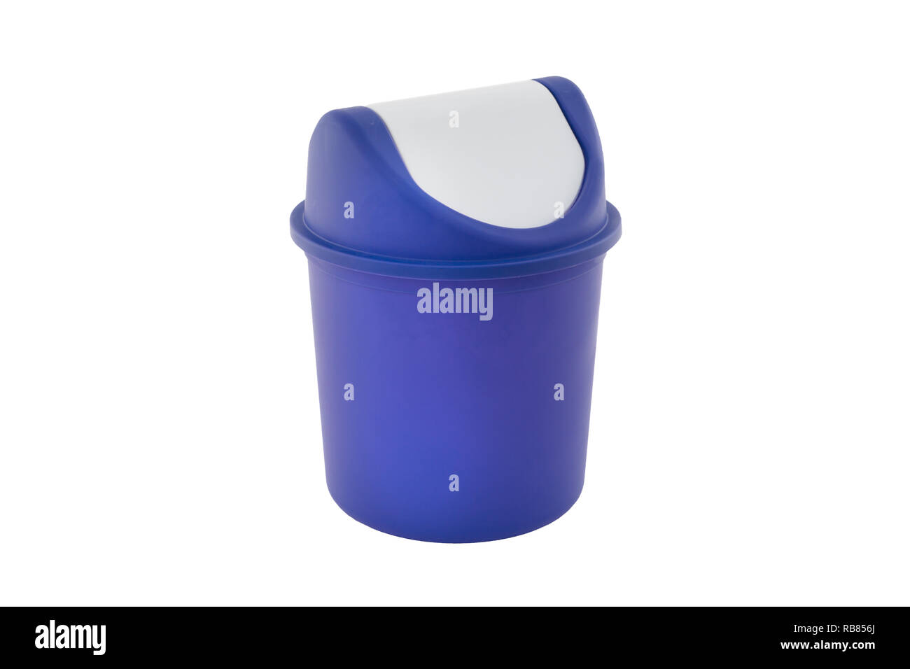 Trash can isolated on white background - Stock Image