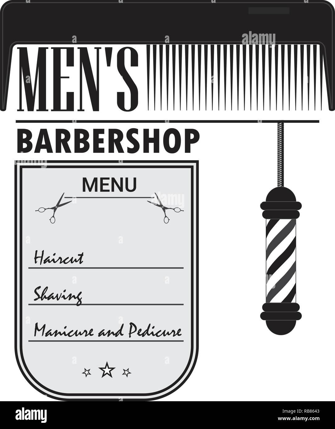 Barber Shop Signboard Stock Vector Art \u0026 Illustration