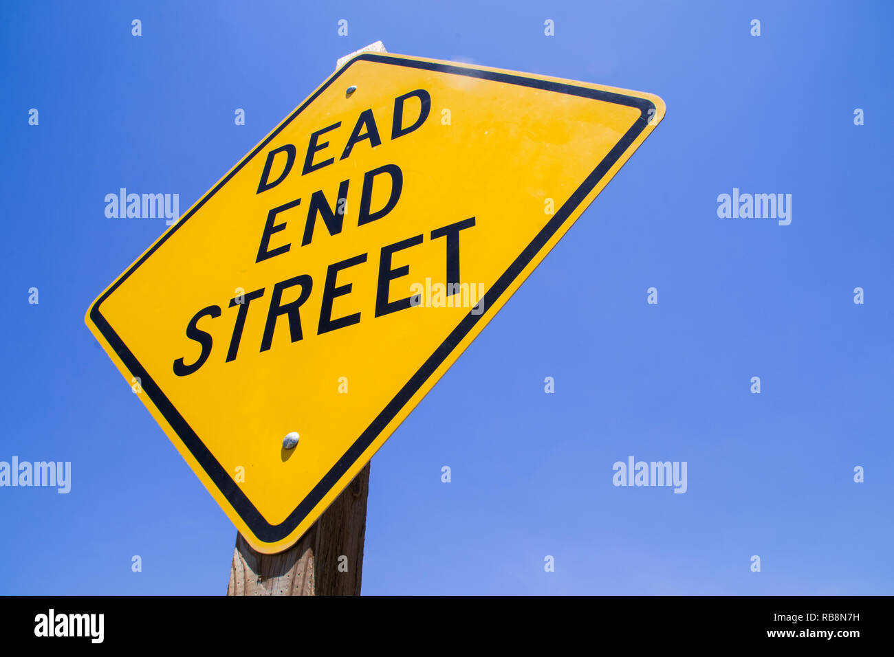 The 'Dead End Street' sign. - Stock Image