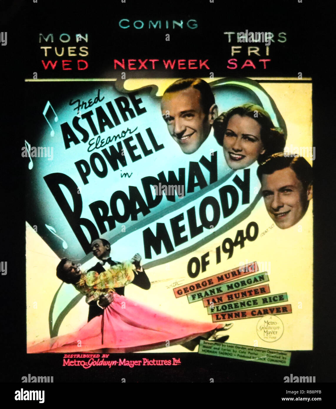 Fred Astaire Eleanor Powell 'Broadway Melody' movie advertisement - Stock Image
