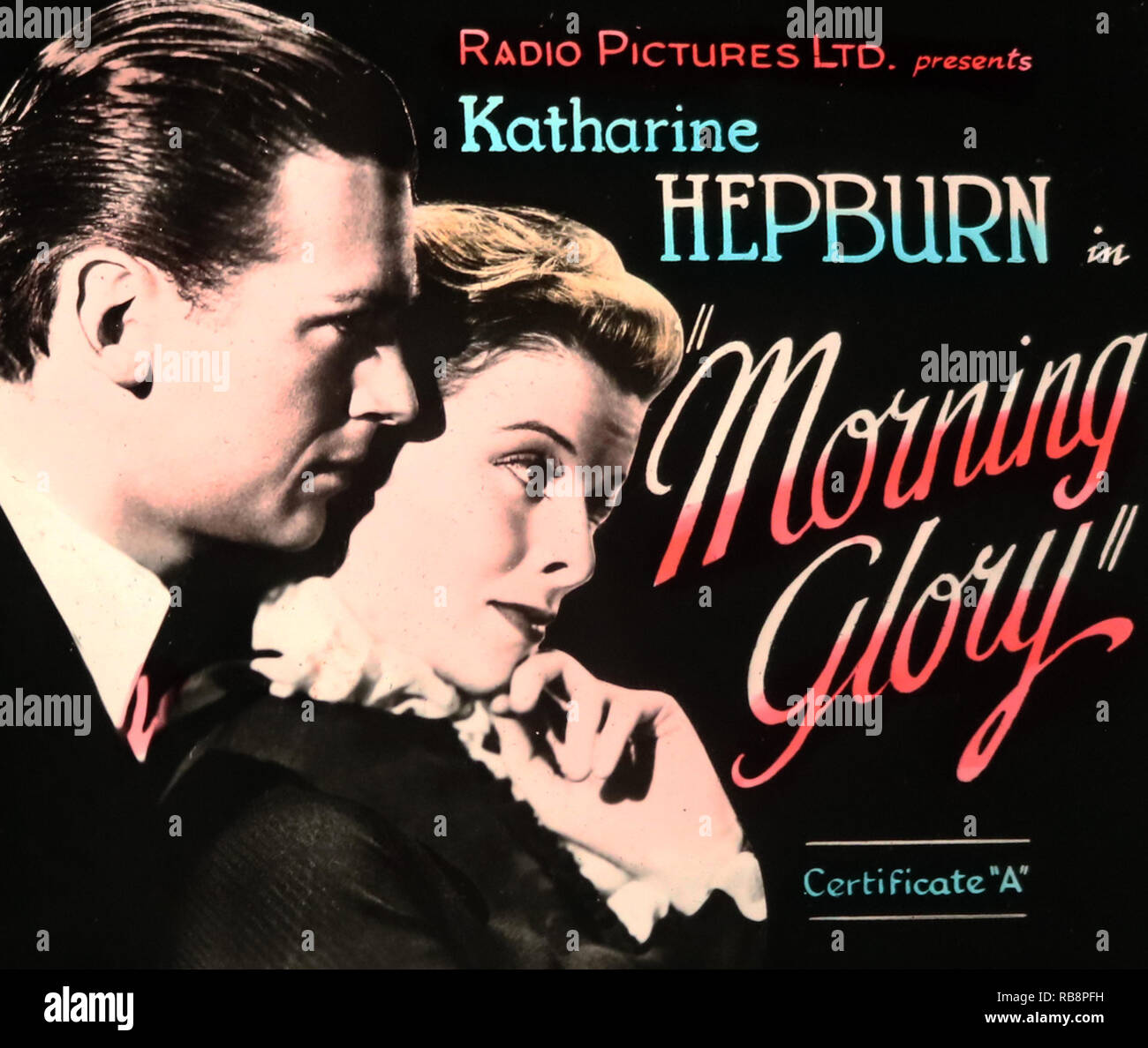 Katherine Hepburn 'Morning Glory' movie advertisement - Stock Image