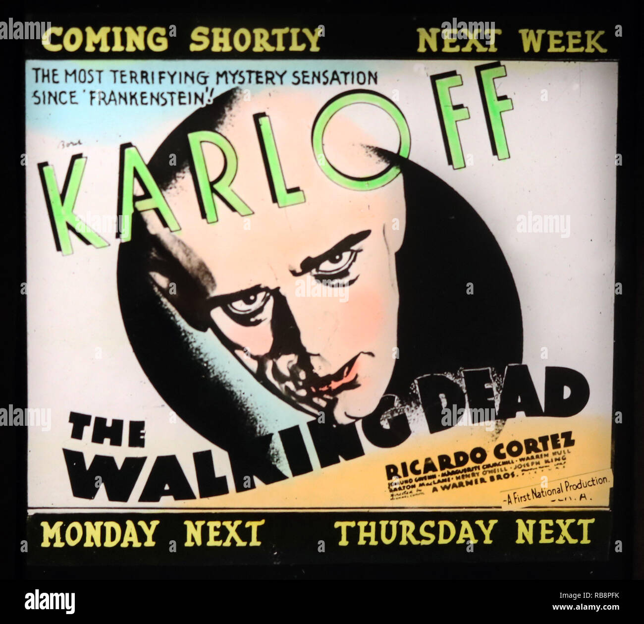 Boris Karloff 'The Walking Dead' movie advertisement - Stock Image