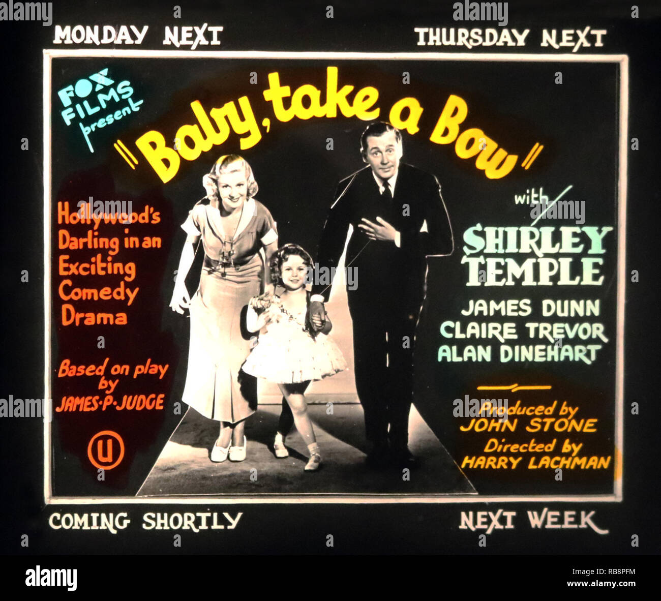 'Baby take a bow' film advertisement - Stock Image