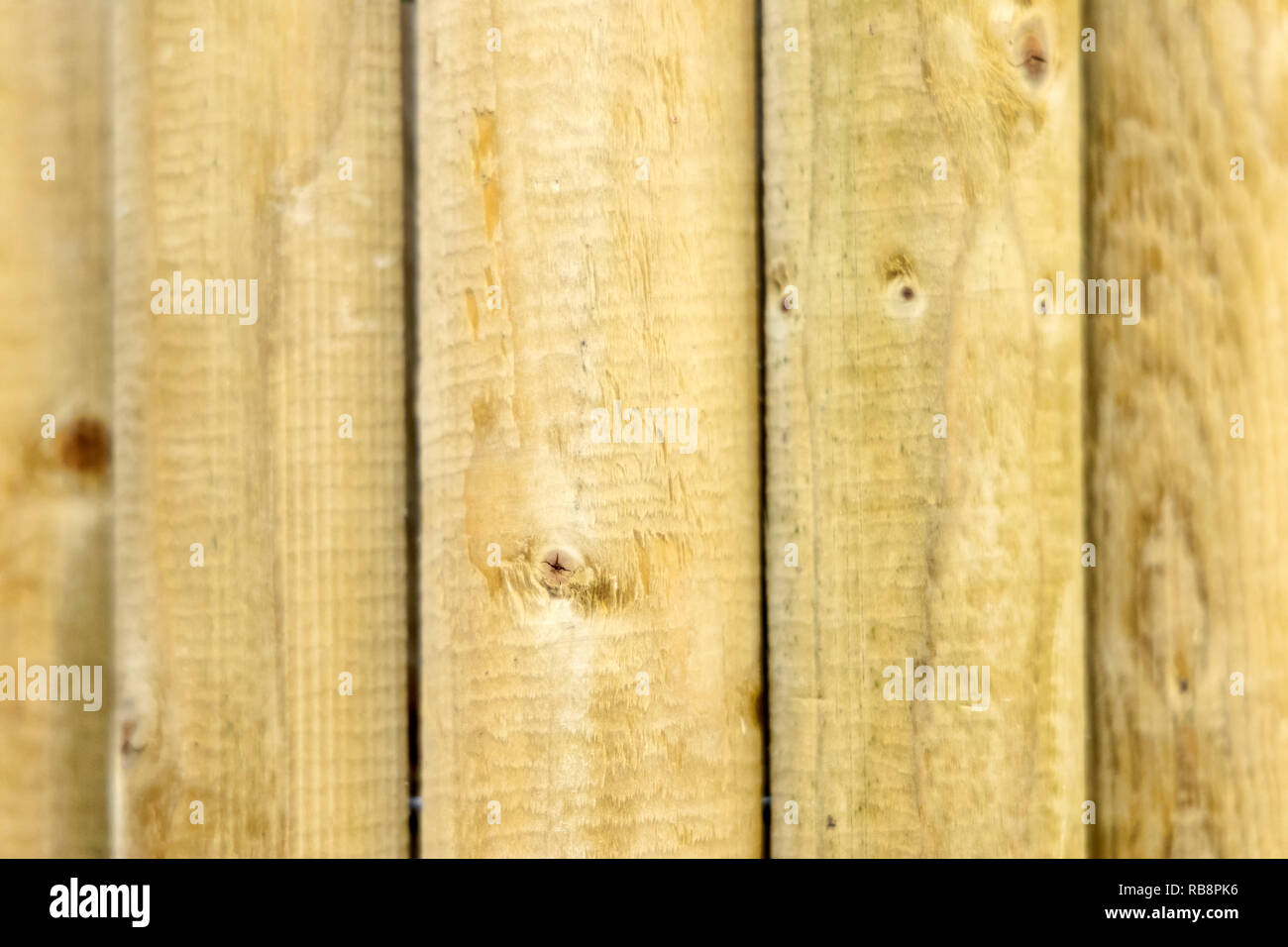 building material - fence post pole wood - Stock Image